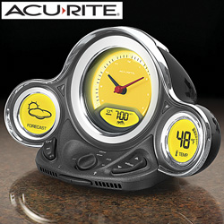 Acurite Motor Alarm Clock with Outdoor Sensor  Model# 02000