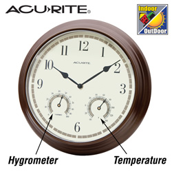 Indoor/Outdoor Clock/Thermometer/Hygrometer - 13.5 inch  Model# 00314W
