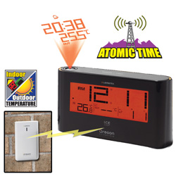 Projection Clock with Outdoor Temperature&nbsp;&nbsp;Model#&nbsp;EW98