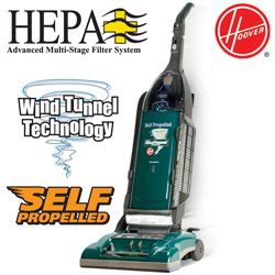 Hoover Self-Propelled And Hepa Filter Vacuum  Model# U64019RM