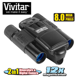 Vivitar 8mp Digital Camera Binoculars  Model# VIV-CV-1225V
