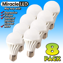 8-Pack Natural Daylight LED Bulbs  Model# 603011(X8)