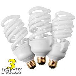 Philips 3-Way Helix CFL Bulbs - 3-Pack  Model# 214866(X3)