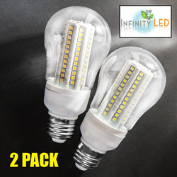 2 Pack Cool 108 LED Dimmable Bulbs  Model# UAB63D-CW