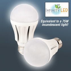 Ultra 75 LED Warm Light Bulbs - 2 Pack  Model# UAB75-WW