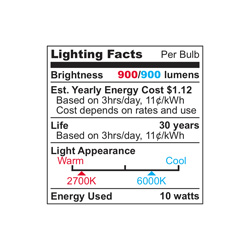 Ultra 75 LED Cool Light Bulbs - 2 Pack  Model# UAB75-CW