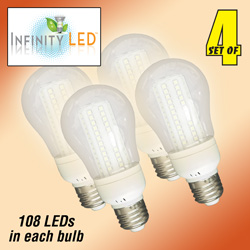 4 Pack Warm 108 LED Bulbs  Model# UAB61WW
