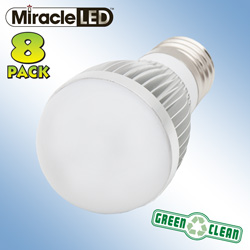8 Pack of Dimmable LED Bulbs  Model# 603200
