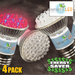 4 Pack of LED Grow Lites  Model# GL1/4