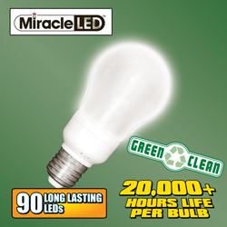 Edison Shaped LED Bulb  Model# MIRACLE LED EDISON-FROSTED