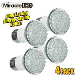 4 Pack 38 LED Miracle Bulbs  Model# 605016X4