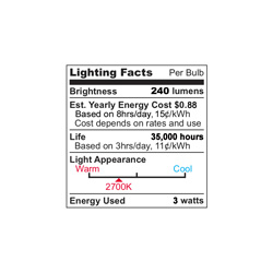 10-Pack Warm Ultra LED Lites  Model# UF-2WW/10PK