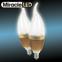 2 Pack Warm LED Candelabra Bulbs  Model# 604510
