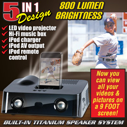 LED Projector With iPod Dock&nbsp;&nbsp;Model#&nbsp;OPTIMAX II