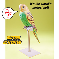 2 Pack Motion Activated Parakeets  Model# 2060