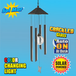 Solar Light With Chimes&nbsp;&nbsp;Model#&nbsp;ESL-67