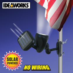 Solar Flagpole Light  Model# JB-6200
