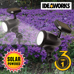 3-In-1 Solar Spot Light - 2 Pack  Model# JB7030