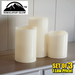 Himalayan Glow 3-Piece Flameless Candle Set  Model# HG1203