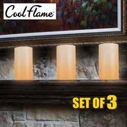 3 Pack Cool Flame Candles  Model# 7819