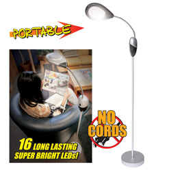 Cordless LED Floor Lamp  Model# CSN-16LED-R