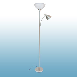 Checkolite Floor Lamp - Nickel  Model# 6185T20-72