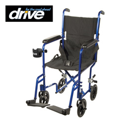 Transport Chair - Blue  Model# ATC19-BL