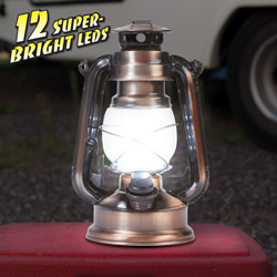 Copper 12 LED Lanterns - Set of 2  Model# ELANT12