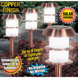 4 Pack Copper Solar Light  Model# SE1222A-1