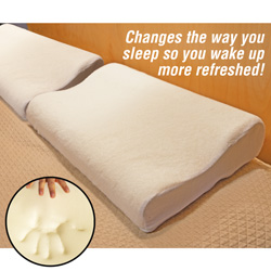 2 Pack Memory Foam Contoured Pillows  Model# MFP-10
