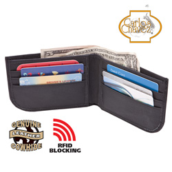 RFID Safe Wallet - Black  Model# QBPJ-2223-1-BLACK