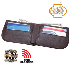 RFID Safe Wallet - Brown  Model# QBPJ-2223-2-BROWN