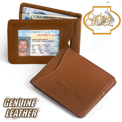 Carlos Chavez Brown Leather Clip Wallet&nbsp;&nbsp;Model#&nbsp;H1024-A-BR