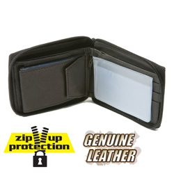 Zip-Up Wallet - Black
