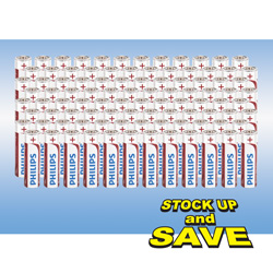 Philips AA Batteries - 100 Pack
