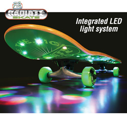 Lighted LED Skateboard&nbsp;&nbsp;Model#&nbsp;RTL-RASTA BURST