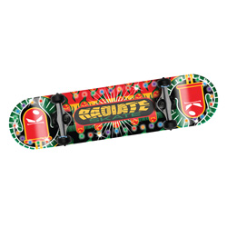 Lighted LED Skateboard  Model# RTL-RASTA BURST