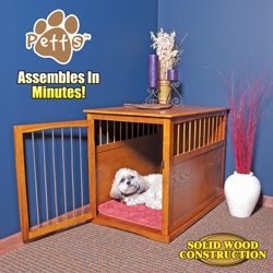 Medium Wood Pet Crate End Table  Model# YB-0209M
