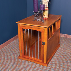 Large Wood Pet Crate End Table  Model# YB-0210M
