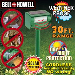 Bell And Howell Solar Animal Repeller&nbsp;&nbsp;Model#&nbsp;50104MO