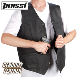 Mossi Leather Concealment Vest  Model# SG-103