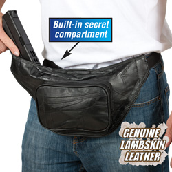 Patch Leather Handgun Bag  Model# WS10085-2P
