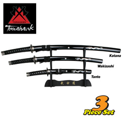 3-Piece Samurai Sword Set  Model# XL1179