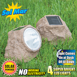 Solar Rock Lights - Set of 2  Model# ESL-24