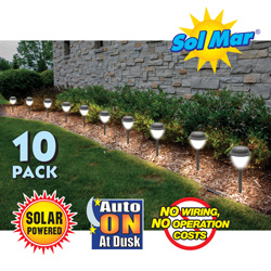 Sol Mar Solar Garden Lights - 10 Pack  Model# S11110