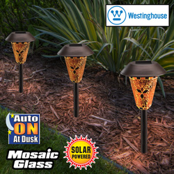 Bronze Mosaic Solar Lights&nbsp;&nbsp;Model#&nbsp;878206-78RDWAR