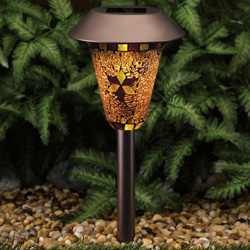 Bronze Mosaic Solar Lights  Model# 878206-78RDWAR