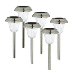 6 Piece Moonlight Solar Lights  Model# 167416-41