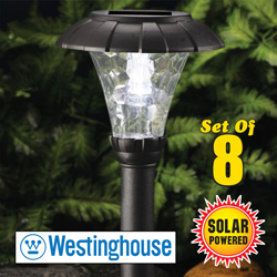 8 Piece Stanford Solar Lights  Model# 828008-08W