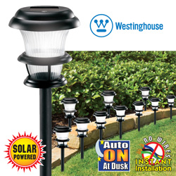 10 Piece Tri-Fecta Solar Lights&nbsp;&nbsp;Model#&nbsp;497009-08W